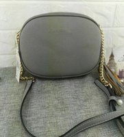 Wholesale Ribbon Embroidery Decoration - 2017 HOT Brand New High Quality Canvas Chain shoulder fashion bags Casual fashion handbag fringed decoration single shoulder chain bag
