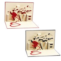 ingrosso pop up card 3d cuore-Carte Pop-Up 3D-Cupido Cuore Buon compleanno di San Valentino Anniversario Natale-Y103
