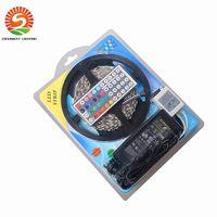 Wholesale remote uk plug for sale - 5050 RGB led strip set m leds waterproof V keys remote control V A power supply with EU AU UK US Plug