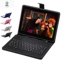 пучок клавиатуры оптовых-Оптовая продажа-10.1 дюймов 10 дюймов Boda Quad Core Android 4.4 KitKat WiFi Tablet 16 ГБ Bluetooth Bundle клавиатура бесплатный подарок крышка клавиатуры
