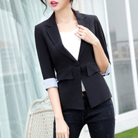 Wholesale Cheap Working Suits - Casual Plus Size Summer Women Blazer Elegante Ladies Suits For Work Chaquetas Mujer Cheap Female Blazers Casaco Slim Top 50N0496