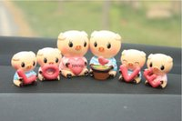 Wholesale Pig Cute Love - Pig car ornaments love pig Q version of the resin cute cartoon car accessories wholesale love pig manufacturers