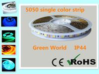 12v 45w großhandel-5 mt / los 5050 SMD DC12V / 24 V streifen einfarbig R / G / B / Y / w / ww / cw epistar chip wasserdicht IP44für innen hohe qualität niedriger preis heißer verkauf streifen