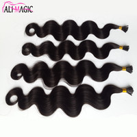 "Wholesale 26 Fusion Hair Extensions - Most Popular 18"" 20"" 22"" 24"" Stick I Tip Fusion Italian Keratin Hair Extensions Peruvian Virgin Hair Body Wave Remy Human Hair"