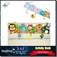 0M+ cartoon story books - Lovely Infant Activity Book Cartoon Animal Soft Baby Educational Toy Cloth Book Plush Animal Story Intelligence Developing Toy