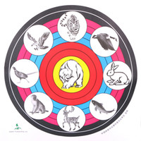 Wholesale Face Shot - Wholesale 16 inch Animal Target Face Paper Shooting Practice Archery Bows Arrows Outdoor Hunting Target Paper