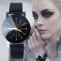 Wholesale Round Spots Mm - Luxury dot Diamond Watches Casual Classic Spots Diamond Leather Mens Watches lover Fashion Designer Couple Watch