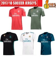 Wholesale Real Silk Shirts - 2017 18 Top Real madrid Rugby jersey Free patch goalkeepe Uniforms RONALDO Home Away Third BALE RAMOS ISCO MARCELO MODRIC Shirts
