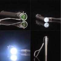 Wholesale Power Led Zoom - Outdoor Portable Round Moon Shape Light Stainless Steel High Power Mini Flashlight LED Flashlight Torch EDC Tools 2503030