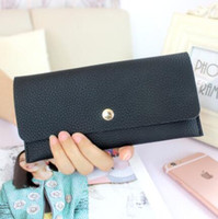 square envelopes - Ladies long wallet ultra thin wallet simple new hand bag envelope female