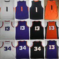 Wholesale Charles Mix - Wholesale Josh Jackson Devin Booker Jersey Phoenix Men Basketball Jerseys Charles Barkley Steve Nash Purple Orange Black White Mix Orders