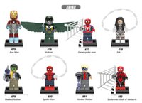 spiders games - 120pcs Mix Super Heroes Series Minifig Silk Iron Man Vulture Game Spider Man Masked Robber XINH X0168 Mini Building Blocks Figures
