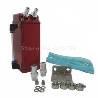Wholesale Red Engine Oil - Oil Catch Reservoir Breather Tank Can For Honda Square Red 100%Aluminum Engine