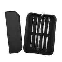 Wholesale whitehead remover tool online - 5pcs Set Blackhead Whitehead Remover Tool Kit Blemish Acne Pimple Extractor Make Up Beauty Tool Blackhead Remover needle