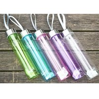 Wholesale Country Lovely - Wholesale- lovely pet 280ML Transparent Portable Bike Sports Unbreakable Plastic Water Bottle Oct107