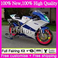 Wholesale Rgv Vj23 - Body For SUZUKI Blue white RGV250 VJ23 97-98 RGV 250 97 98 Bodywork 39HT22 RGV-250 VJ 23 Cowling 97 RGV250 1997 1998 Motorcycle Fairing kit