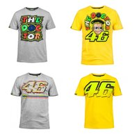 Moto GP Valentino Rossi VR46 Jaune 46 The Doctor T-Shirt Racing Sport Moteur T-shirt