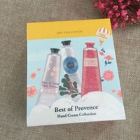 Wholesale Best Peonies - 1box=6pcs Famous Brand Best of Provence Hand cream collection Shea Butter+Peony+rose with 6 pieces pack suit mini hand lotions free shipping