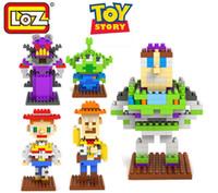 Wholesale Toy Story Buzz Woody - LOZ Arrival Cartoon Diamond For Toy Story The Building Blocks toys Quiz Toys Buzz Lightyear Woody Zach King Jessie 9127-9131