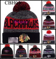 Wholesale Character Patrick - Jonathan Toews Chicago Blackhawks Beanies Winter Team Pom Wool Knit Hats Patrick Kane Sharp Ice Hockey Caps For Men Women Beanie