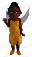 Wholesale Tinkerbell Mascot - AM6289 Brown Tinkerbell mascot costume Fur mascot outfit adult fancy dress Free shipping