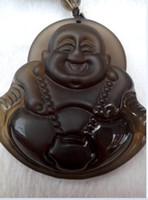 Wholesale Jade Rock Necklaces - Natural ice rock Buddha pendant Free shipping