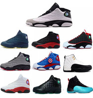 Wholesale Best Air Homes - Best quality air retro 13 black cat man basketball shoes He got game Chicago sneaker bred Hornets CP3 PE Home flints sports shoes