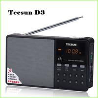 музыкальная песня mp3 оптовых-Wholesale-Hot Sale Tecsun D3 FM Stereo Radio Music MP3 Digital Song Selection TF Card Speaker With Built-In Speaker Free Shipping