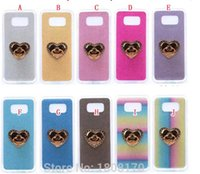 Wholesale iphone 4s glitter phone case online – custom Diamond Grip Stand Finger Glitter Soft TPU Case For Iphone PRO MAX X XS XR Plus SE S S S Bling Colorful Phone GEL Skin Cover