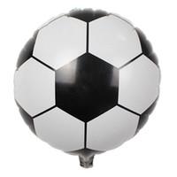 hochzeitsfußball großhandel-Spielwarenhochzeitsfestdekorationballone der Großhandels- neuen 18 Zoll Fußball-Ballonkinder für Babygeschenk