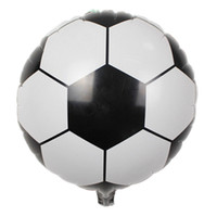 Wholesale April 18 - Wholesale- New 18 inch Football Balloons children's toys wedding party decoration balloons for baby gift