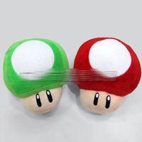Wholesale mushroom stuffed resale online - New Mario Bros Mushroom Plush Doll cm quot Toy Mario Bros Stuffed Animals EMS shipping E1917