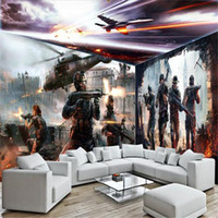 Wholesale Heat Movies - Wholesale-wall decor paper 3D Movie war screen helicopter disco nightclub bar KTV Cafe art wallcovering murals-3d wall paper home decor