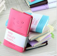 Kawaii Cartoon mini smiley Giornale Notepad Diary Vintage Style Cover Notebook diario del giornale Blank String scuola appunti
