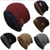 Wholesale Wholesale Price Winter Hat - Factory price!! 2017 Unisex Winter Warm Hip Hop Skullies Beanie Men Women Knitted Hat Causal Outdoor Warm Cap 600pcs