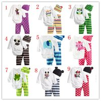 Wholesale Wholesale Infant Clothing China - infant clothing from china toddler baby long sleeve cotton cute baby romper 3pcs set romper + leggings + hat