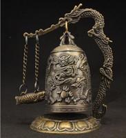 Wholesale Bamboo Silk Sheets - Livraison Gratuite de collection Brass Dragon Chinois De Bell statue