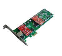 Wholesale Voip Fxs - TDM410 Low Profile 2U Trixbox Elastix Asterisk VoIP Card , Quad Span FXO FXS PCI Express Card
