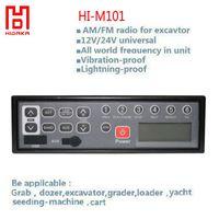 Wholesale Audio Clock - Wholesale-Hidaka 12v 24v Car AM FM audio with MP3 Player AUX-IN USB LCD HI-M101 Excavator Radio for Sumitomo Construction Machinery