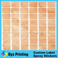 Wholesale Oem Vinyl - High quality OEM fatory good price waterproof bathroom wall sticker with epoxy resin for home decor
