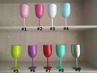 Wholesale Green Glass Goblets - red wine glass Vacuum Stainless Steel Cocktail beer Glass Wine Glass Goblet drinkware mugs with Lid Car Cup Red White Green