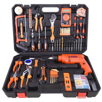 Wholesale wrench knives set for sale - Group buy Hand Tool Set General Household Hand Tool Kit with Plastic Toolbox Storage Case Socket Wrench Screwdriver Knife