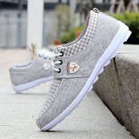 Wholesale Trend Shoes Wholesale - Wholesale- new men shoes woman flat shoes Spring summer trend lace up Casual Fashion breathable flats