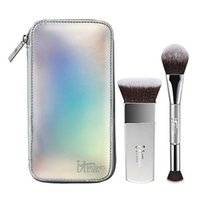 Wholesale Silver Makeup Brushes - Brand Professional Makeup Brushes it cosmetics brushes for ulta 2pcs Your Contour Must-Haves Set face make up blending highlight brush.