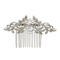 ingrosso pettine d'argento d'argento vintage-Vintage argento placcato donne forcine cristalli di strass pettini accessori per capelli da sposa sposa gioielli 4012r
