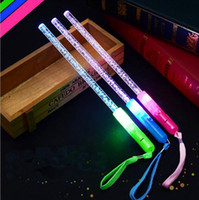 Palitos acrílicos LED Incandescentes varas de luz intercambiáveis ​​Barra intermitente Concierto de torção Props Glow Party Supplies OOA2459