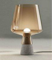 çimento lambası toptan satış-Retro Endüstriyel Masa Işık Zarif Gri Çimento Lambası Başucu Masa Lambası Yatak Odası Masa lambası Ofis Aydınlatma için D.25 x H.38cm