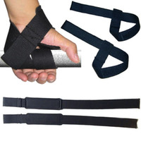 Wholesale Bar Hand Grips - Wholesale- Weight Lifting Hand Wrist Bar Support Strap Brace Support Gym Straps Weight Lifting wrap Body Building Grip Glove 1 Pair