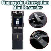 Wholesale Portable Fingerprint - Wholesale- Free shipping!Portable Digital Recorder 8GB MP3 Professional Fingerprint Encryption Recorder