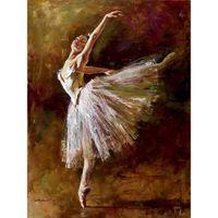 pintores de óleo dançarinos venda por atacado-Edgar Degas Dancer Tilting pinturas a óleo reprodução da arte da lona pintados à mão Home decor